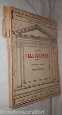 DELL ORATORE Libro Primo Cicerone Nicola Pirrone Loffredo 1935 Classici Larini