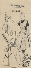 Vintage 50's Sewing Pattern Mail Order Apron Medium & Potholder Set