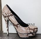 NIB YSL Yves Saint Laurent TRIBUTE 105 Snakeskin Exotic Platform Pumps Shoes 39