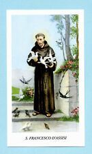 SANTINO SAN FRANCESCO D'ASSISI  IMAGE PIEUSE - HOLY CARD SANTINI