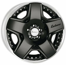"Mercedes-Benz Lorinser OEM RSK6 19"" Wheels Staggered Two-Piece Black W221 W222"