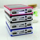 600000mah Solar Power Bank Dual USB Portable External Battery Charger For Phone