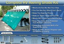 RV Awning Shade Green Awning Shade Screen Panel Complete Kit 8x12