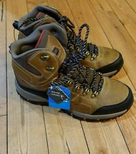 NEW mens EDDIE BAUER brown brandon leather waterproof hiker boots shoes size 10