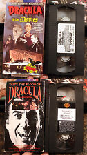 VHS Lot: Dracula: Taste the Blood of + In the Movies: horror documentary rare