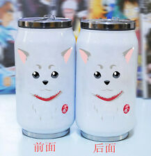 Anime Gintama Sadaharu Bottle Vacuum Coffee Cup Thermos Stainless Steel Mug Gift