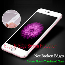 Full Cover Tempered Glass 3D Curved WHITE Screen Protector For iPhone 6s Plus