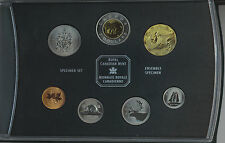 CANADA 2002 7-COIN SPECIMEN SET WITH FAMILY OF LOONS DOLLAR IN BOX COA