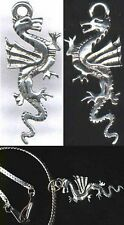 "Silver Pewter Pendant Replica Ancient China Dragon ""Lung"" Alligator Totem 6000BC"