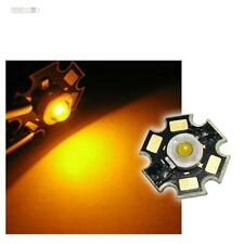 10 x POWER LED Chip STAR Platine 3W GELB HIGHPOWER LEDs