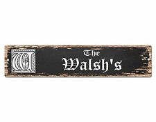SP0880 The WALSH Family name Sign Bar Store Shop Cafe Home Chic Decor Gift