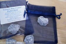 Celestite Natural Raw Crystal Pocket Stone (Small)  5 - 6 grams - Madagascar
