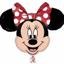 "DISNEY MINNIE MOUSE HEAD RED BOW  SUPERSHAPE BALLOON 29"" x 34"" FOIL BALLOON!"