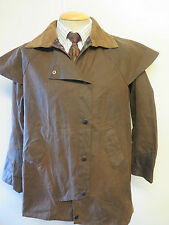 "Barbour  Backhouse Town & Country Waxed jacket - 36"" UK 12  in brown"