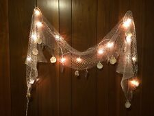 Fish Net Sea Shells Light Strand Outdoor Indoor Nautical Seaside String Lights