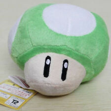 New Super Mario Bros. Mushroom Soft Doll 5in Plush Toy Kids Gifts Green