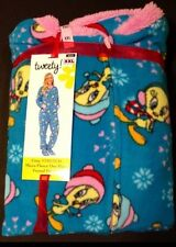 Looney Tunes Winter Tweety Bird Footed Pajamas Footie 1 Piece M XL or XXL NEW