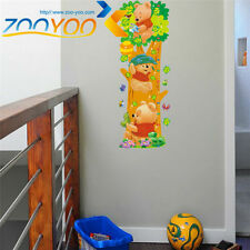 Pooh Childs Height  DIY Removable Wall Decals Sticker Vinyl Mural Room Decor UK