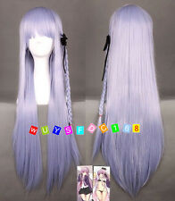 Dangan Ronpa Kyouko Kirigiri Cosplay Wig with Braid Light Purple Wigs NO:285