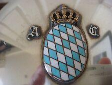 Automóvil club bayern kristallgefäß para 1911, con corona & rautenschild, rara vez!