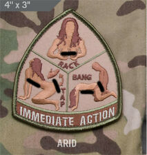 Mil-Spec Monkey IMMEDIATE ACTION morale patch hook back ARID tap rack bang