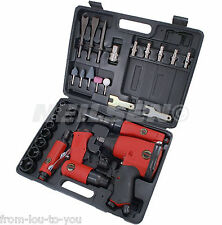 33 Piece Air Tool Kit in Case - ratchet impact wrench die grinder hammer sockets