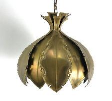 Vintage Holm Sorensen Brass Brutalist Pendant Lamp Chandelier Mid Century Modern