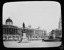 Glass Magic Lantern Slide THE NATIONAL GALLERY LONDON .  C1900  LONDON ENGLAND .