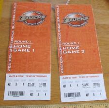 2007 Anaheim Ducks Stanley Cup Ticket w/Tab - Round 1, Home Game 1&3