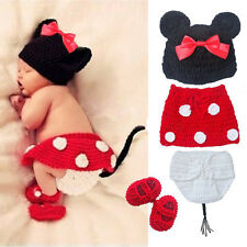 2014 New Baby Girls Boy Newborn Knit Crochet Clothes Photo Prop Outfits 0-9M +C
