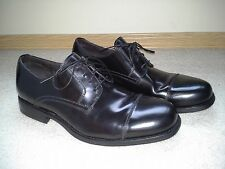 JOHNSTON & MURPHY Birchett Leather Cap Toe Shoe Mens 12 Black~BEST DEAL/MAKE OFR