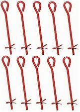 """10 Midwest  901111A 3"""" x 15"""" Red Metal Screw In Twist Tree Stake Ground Anchors"""