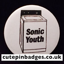 "Sonic Youth Badge (25mm/1"") Pin Button Washing Machine Grunge Punk Indie Rock"