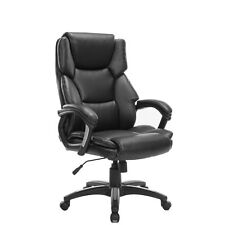 High-Back Executive Massage Leather Office Desk Chair Computer Furniture Black