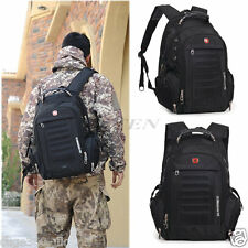 Swiss Gear Men Laptop Notebook Backpack Outdoor Hiking Bag Shoulder Bag
