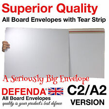 """400 x C2 A2 626mm x 451mm - 24.6"""" X 17.7"""" LARGE ALL BOARD WHITE CARD ENVELOPES"""
