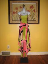 NWT Cache $178 Pleated Hi-Lo Evening Gown Size M