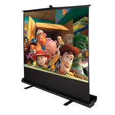 "100"" Inch 4:3 Portable Pull Up Floor Screen Projector Projection Aluminium"