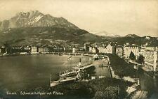 Alte AK/Vintage postcard: LUZERN - Schweizerhofquai mit Pilatus (gel. 1922)