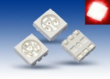 S924 - Pieza 100 SMD LED PLCC-6 5050 rojo 3 Chip LED red