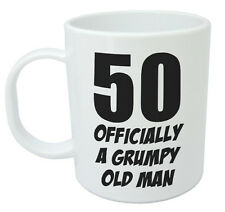 50 Officially A Mug Funny Novelty 50th Birthday Gifts for men women, gift ideas