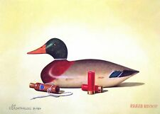 1984 California Duck Stamp Press Proof by Montanucci featuring Mallard Decoy