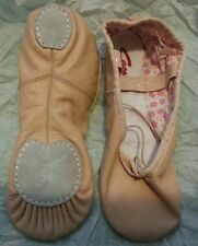 Ballet pink Capezio leather split sole daisy ballet shoes