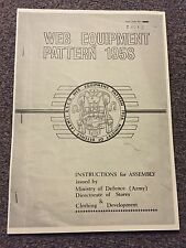 BRITISH ARMY WEB EQUIPMENT PATTERN 1958 MANUAL 58 PATT WEBBING SAS PARA ETC RARE