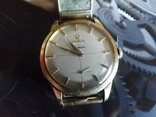 OMEGA 18CT YELLOW GOLD CASED MANUAL WIND CAL 267 VINTAGE WATCH,