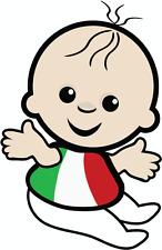 """Baby Italy Flag Car Bumper Sticker 4"""" x 5"""""""