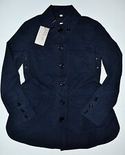 Burberry Brit Steblington Cotton Twill Jacket in Navy Blue US 2 (UK 4) - $750