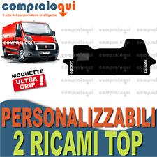 per FIAT DUCATO 2006  TAPPETINI per AUTO SU MISURA in MOQUETTE + 2 RICAMI TOP