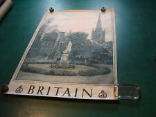 "Original Vintage Poster: BRITAIN 20 X 30""--NORWICH, the Cathedral"