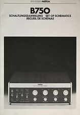 Revox b750 circuit collection-schéma en Allemand Anglais Français